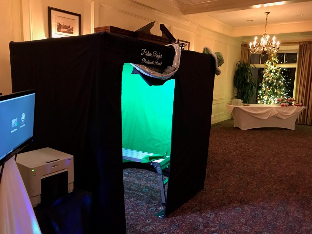 Our Big Black Booth with green screen