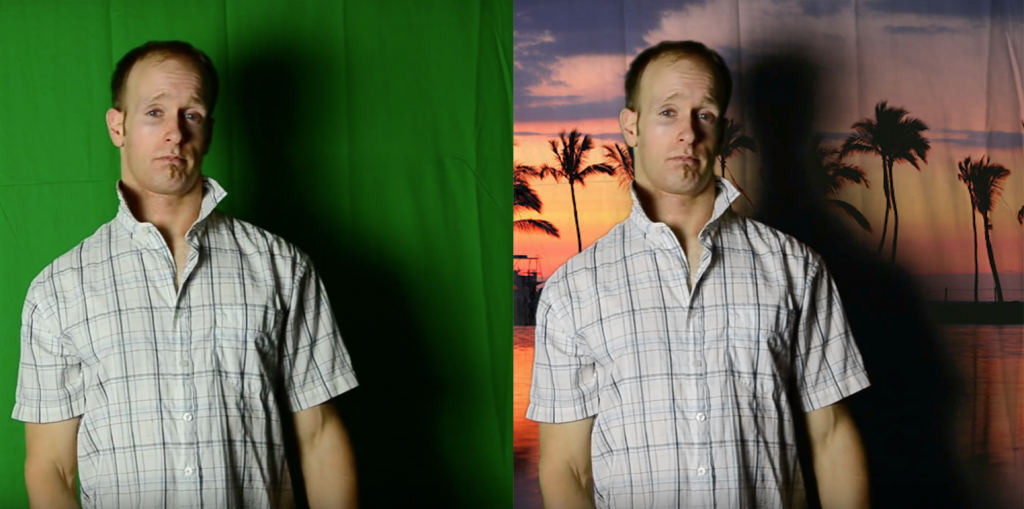 Bad DIY green screen lighting