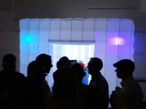 LED photo booth active