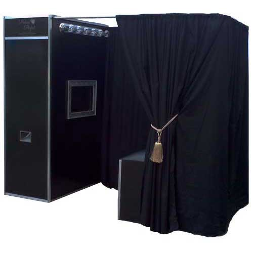 The Box Photo Booth. Our upgraded larger photo booth option. This photo booth has been designed and build from a solid self contained box that is used to hold all the photo booth equipment.