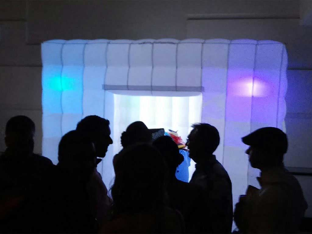 People Checking Out Our Led Photo Booth Picture Perfect Photo Booth  Rentals Offers Affordable Photobooth