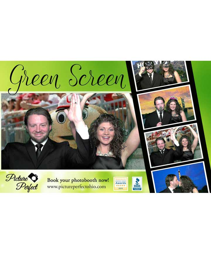 This feature allows guests to hand pick the green screen backgrounds of each picture from our abundant selection; then, let our photo booths innovative green screen software handle the rest! Our photo booth software will superimpose your guests onto the virtual green screen backgrounds they choose. Make your night more memorable with your own personalized or themed backgrounds for your guests to enjoy in the photo booth.